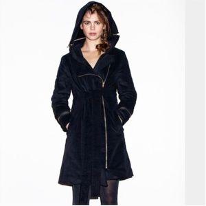 Vaute Couture Emily Vegan Velveteen Winter Coat